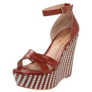 Pour La Victoire Bonita Wedge Sandal Saddle 10